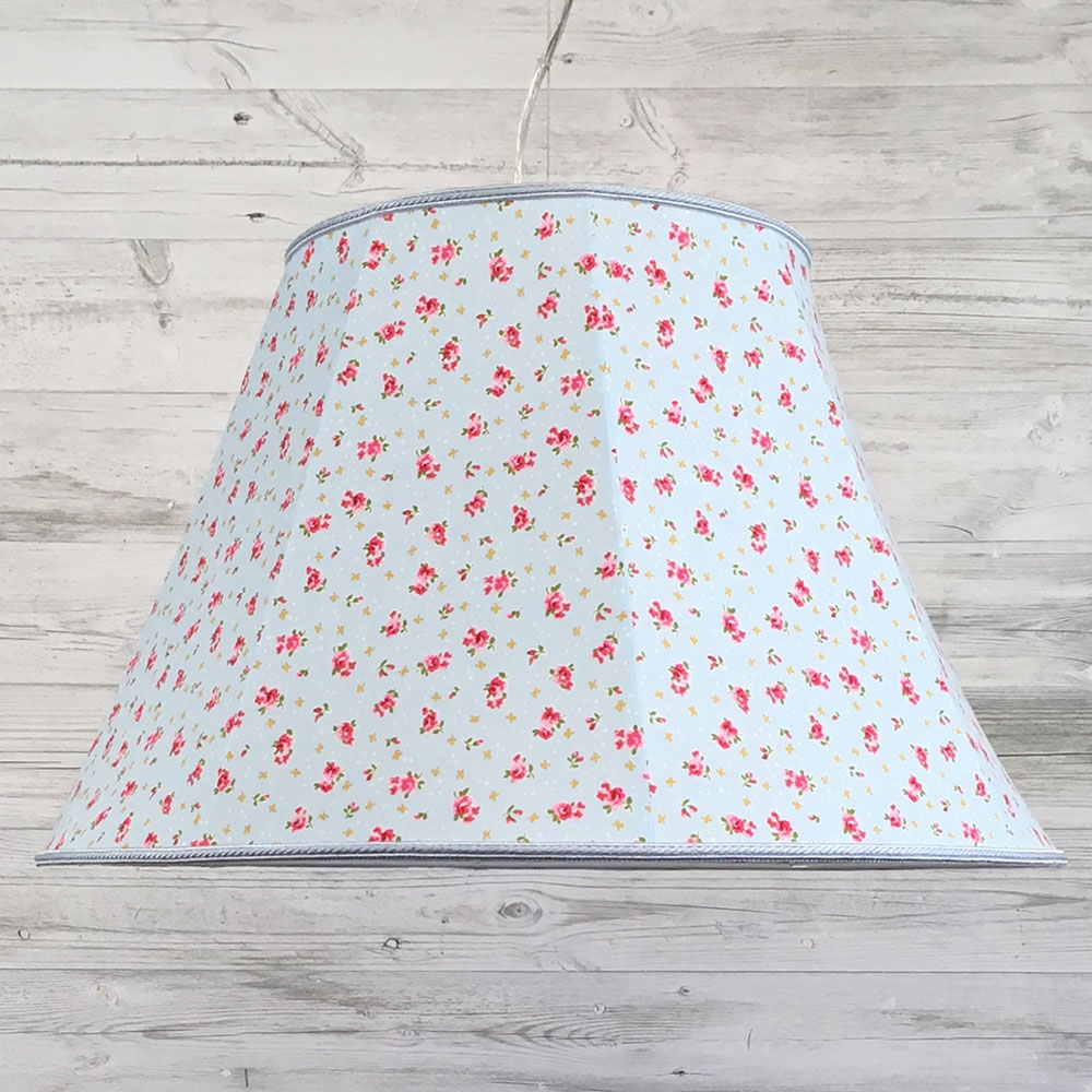 Retro Lampshade Blue Rose