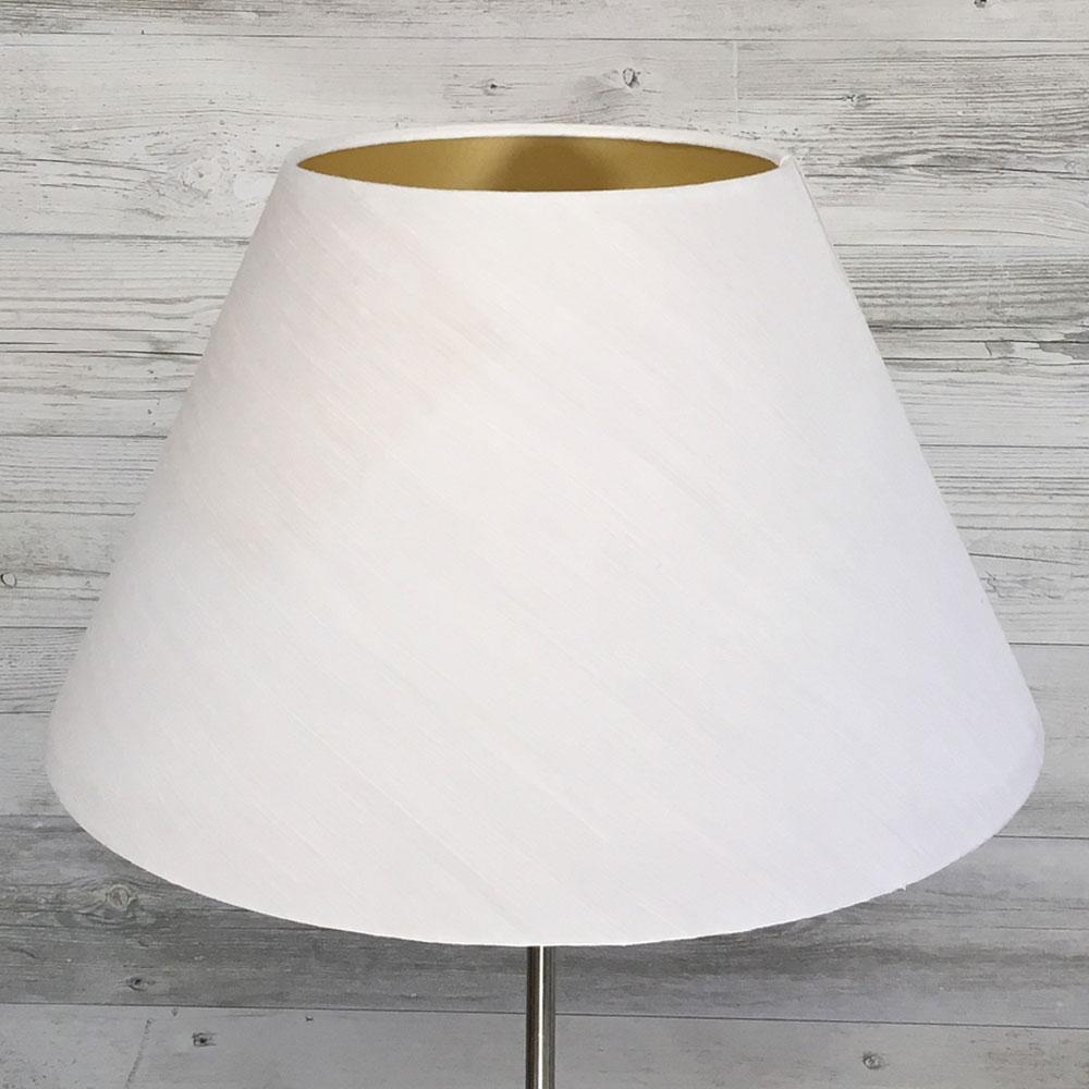 White Empire Standard Lampshade