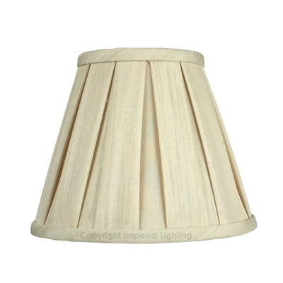 Enya Box Pleat Candle Lampshade Cream