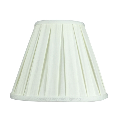 Enya Box Pleat Candle Lampshade Light Cream