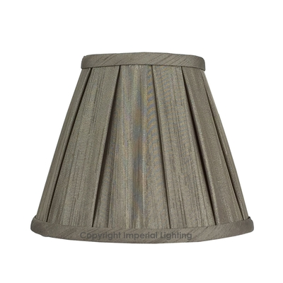 Enya Box Pleat Candle Lampshade Mink
