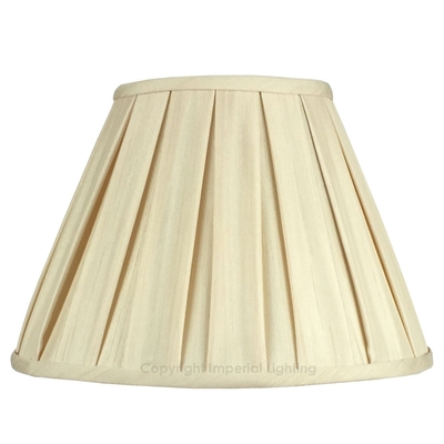 Enya Box Pleat Lampshade Cream