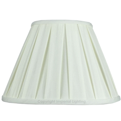Enya Box Pleat Lampshade Light Cream