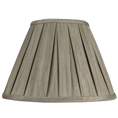 Enya Box Pleat Lampshade Mink