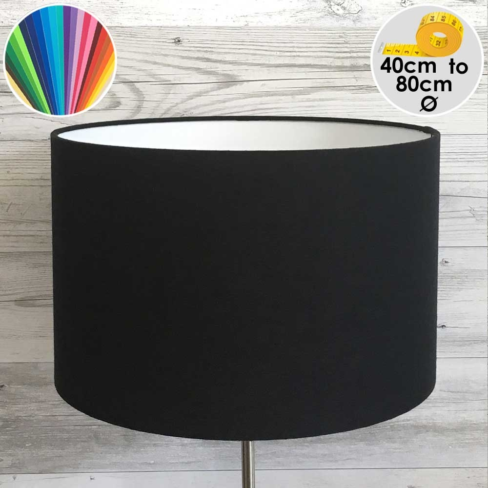 Extra Large Black Drum Table Lamp Shade
