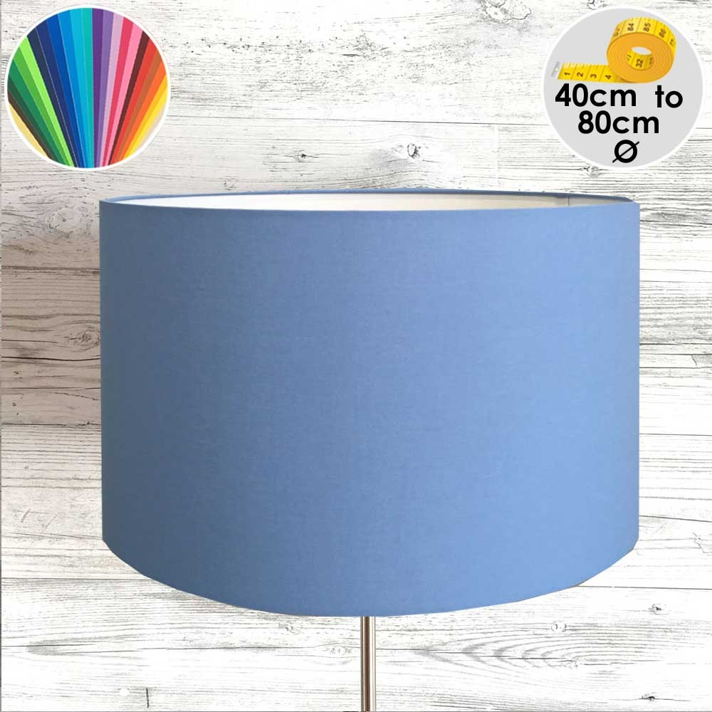 Extra Large Blue Drum Table Lampshade