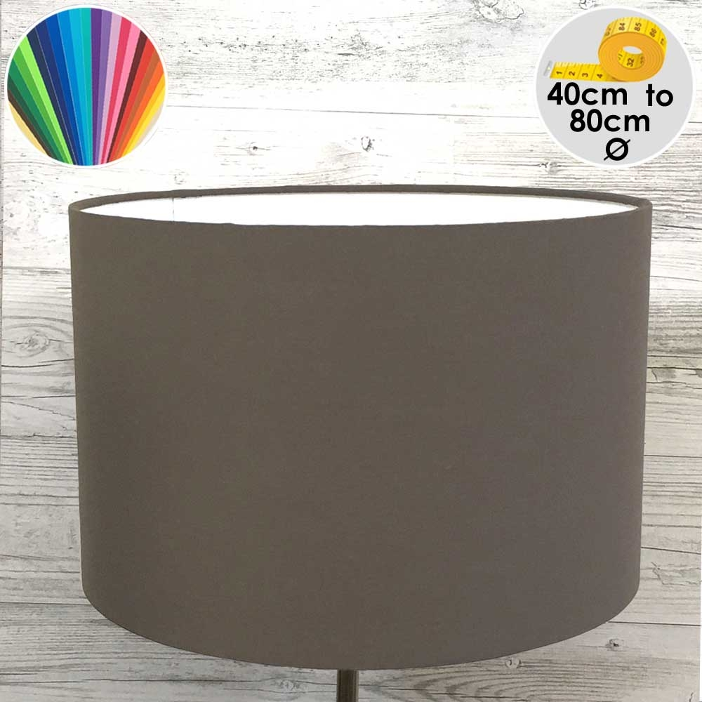 Extra Large Chocolate Brown Drum Table Lampshade