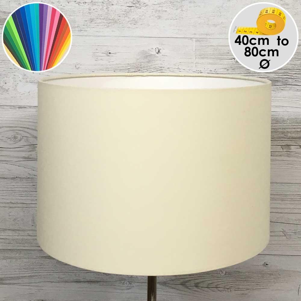 Extra Large Cream Drum Floor Lamp Shade