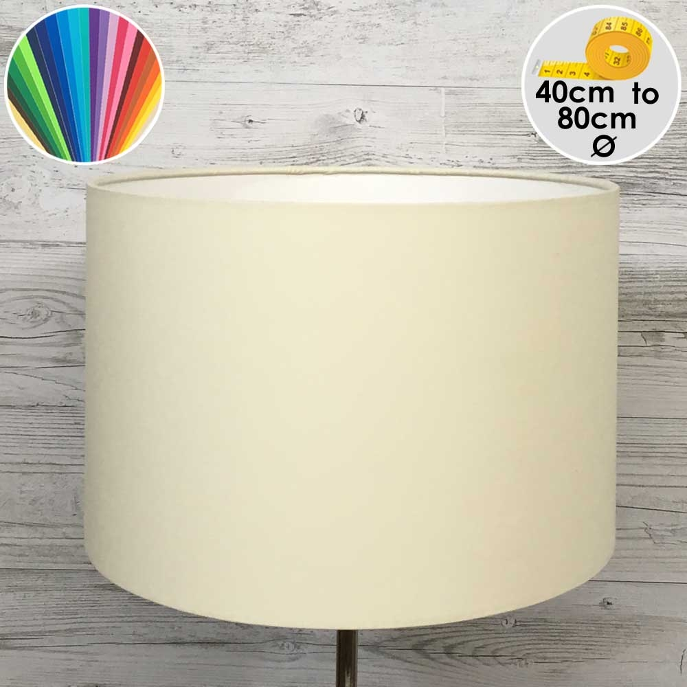 Extra Large Cream Drum Table Lamp Shade
