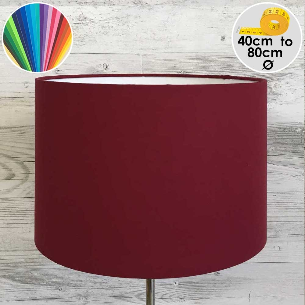 Extra Large Dark Red Drum Table Lampshade