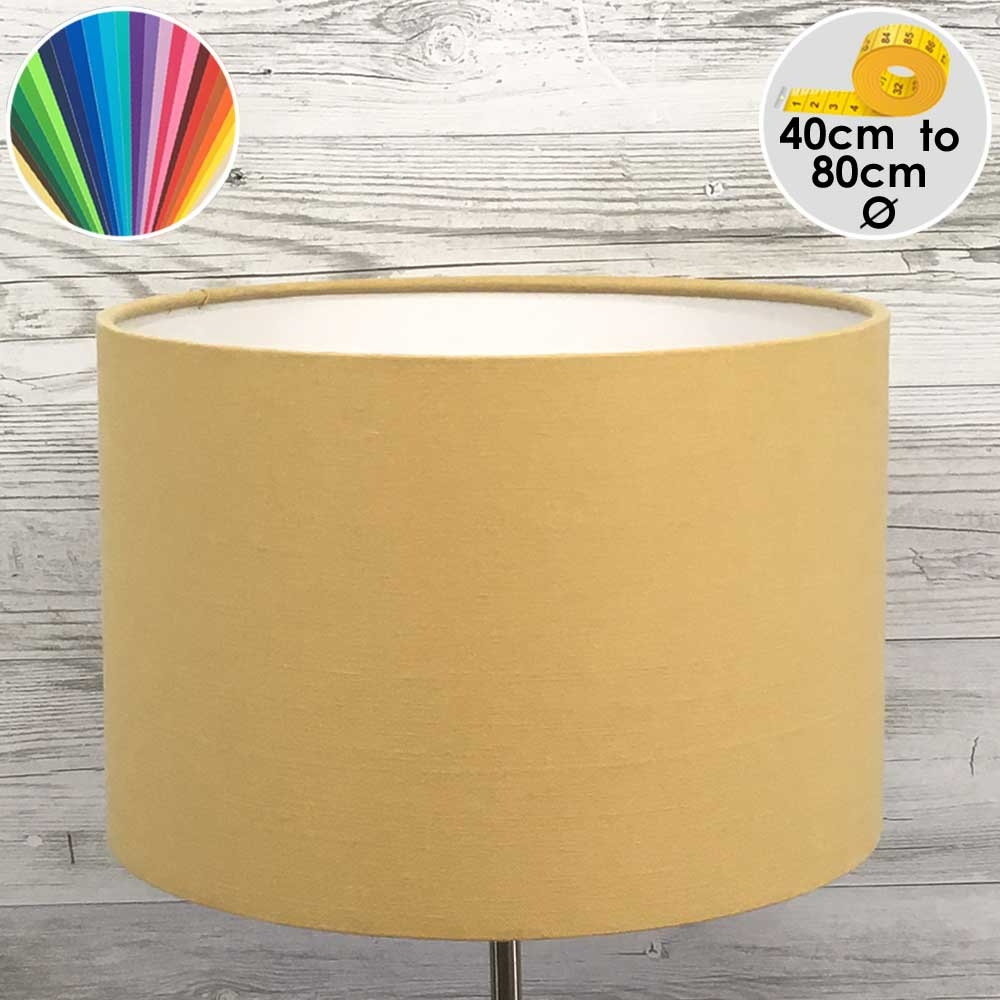 Extra Large Gold Drum Floor Lamp Shade