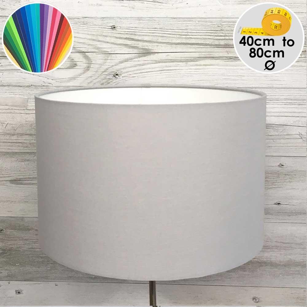 Extra Large Grey Drum Floor Lamp Shade