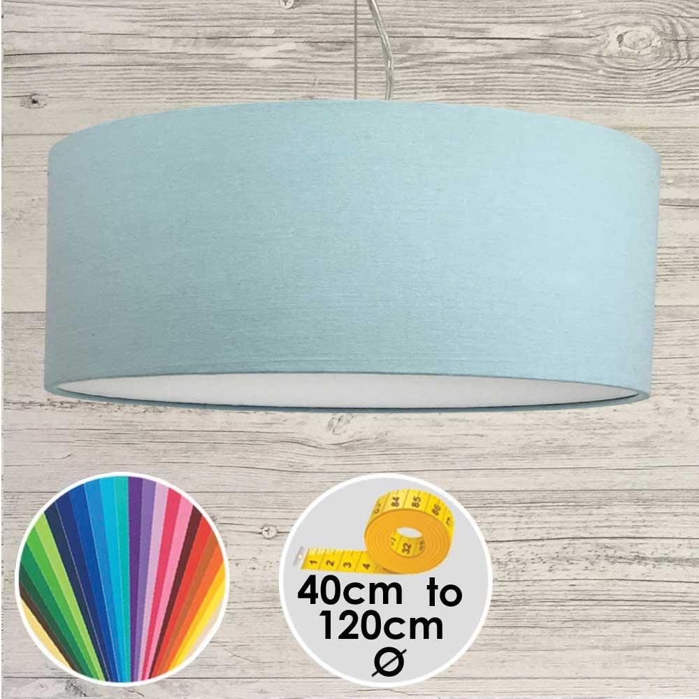 Extra Large Light Blue Drum Pendant Shade