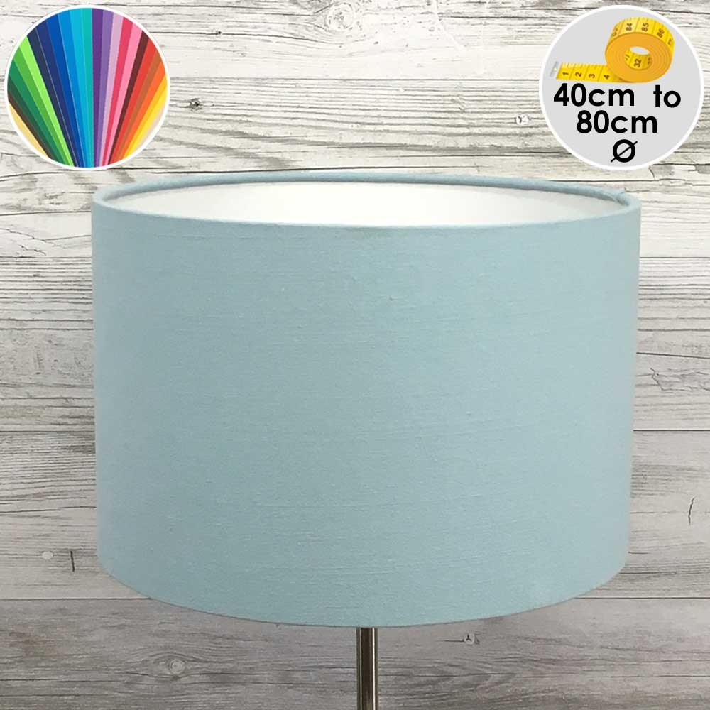 Extra Large Light Blue Drum Table Lamp Shade