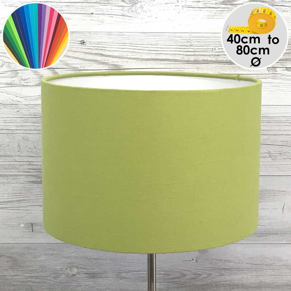 Extra Large Lime Green Drum Table Lamp shade