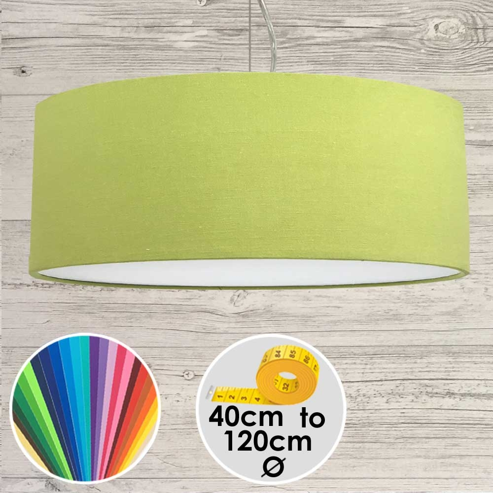 Extra Large Lime Green Drum Pendant Shade