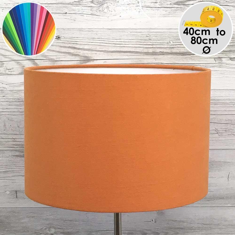 Extra Large Orange Drum Table Lamp Shade