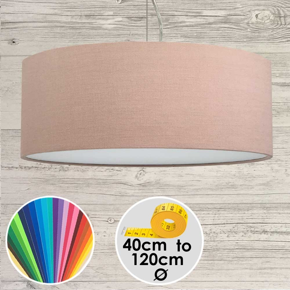 Extra Large Pink Drum Pendant Shade