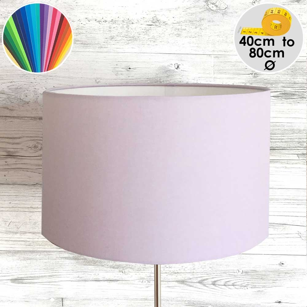 Extra Large Pink Drum Table Lamp Shade