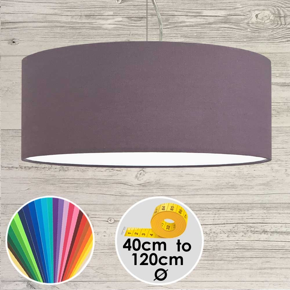 Extra Large Purple Drum Pendant Shade