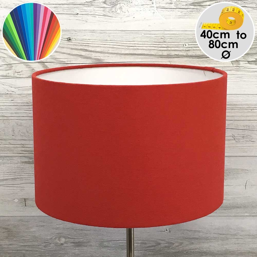 Extra Large Red Drum Floor Lamp Shade