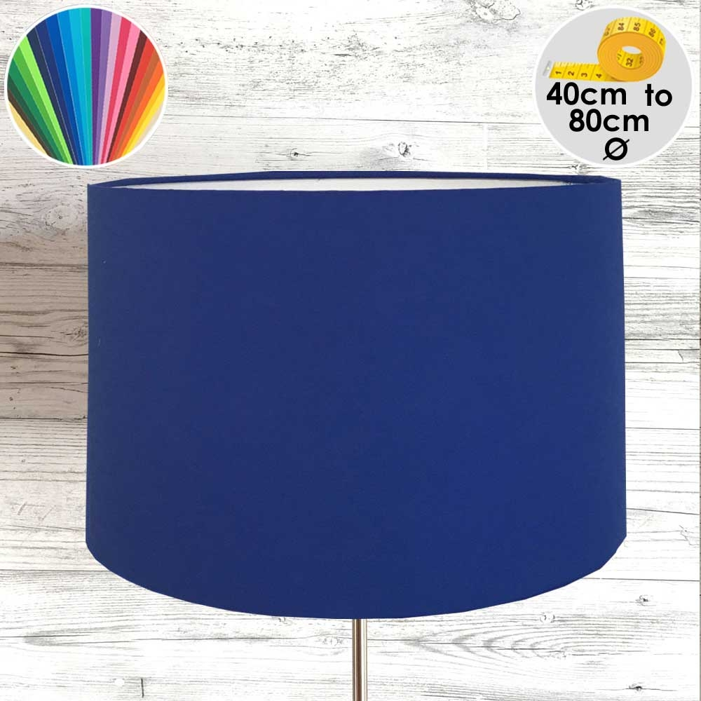 Extra Large Cobalt Blue Drum Table Lamp Shade