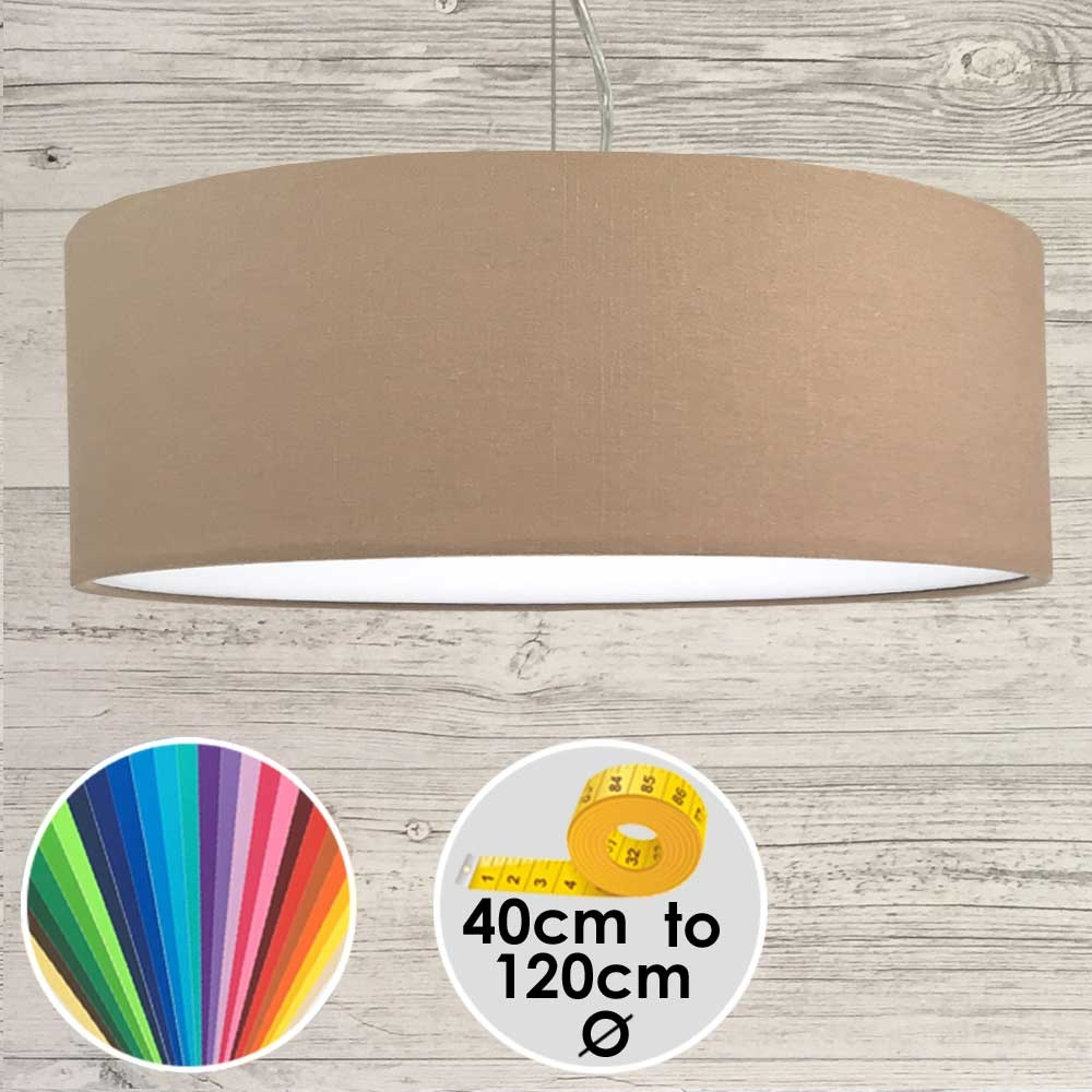 Extra Large Taupe Drum Pendant Shade