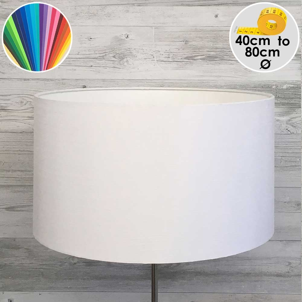 Extra Large White Drum Floor Lamp Shade