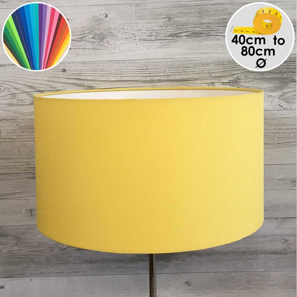 Extra Large Yellow Drum Table Lamp Shade