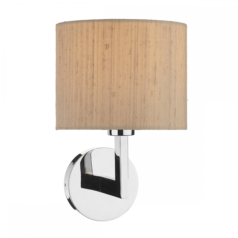 Polished Chrome Wall Light With Drum Shade - Imperial Lighting