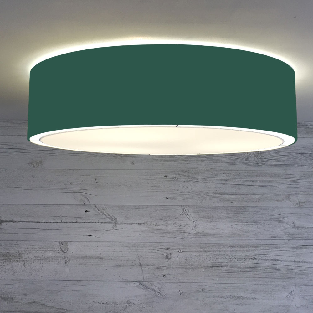 Flush Drum Shade Forest Green