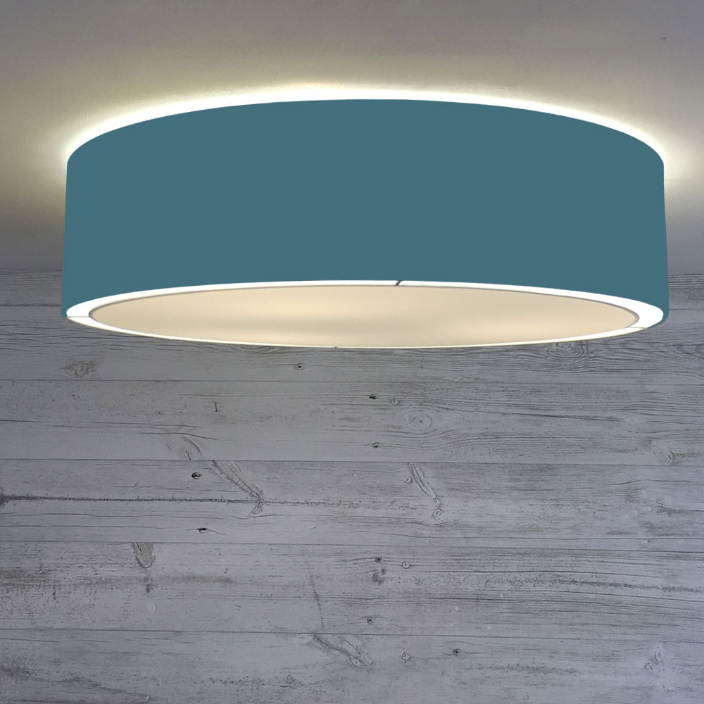 Flush Drum Shade Cadet Blue