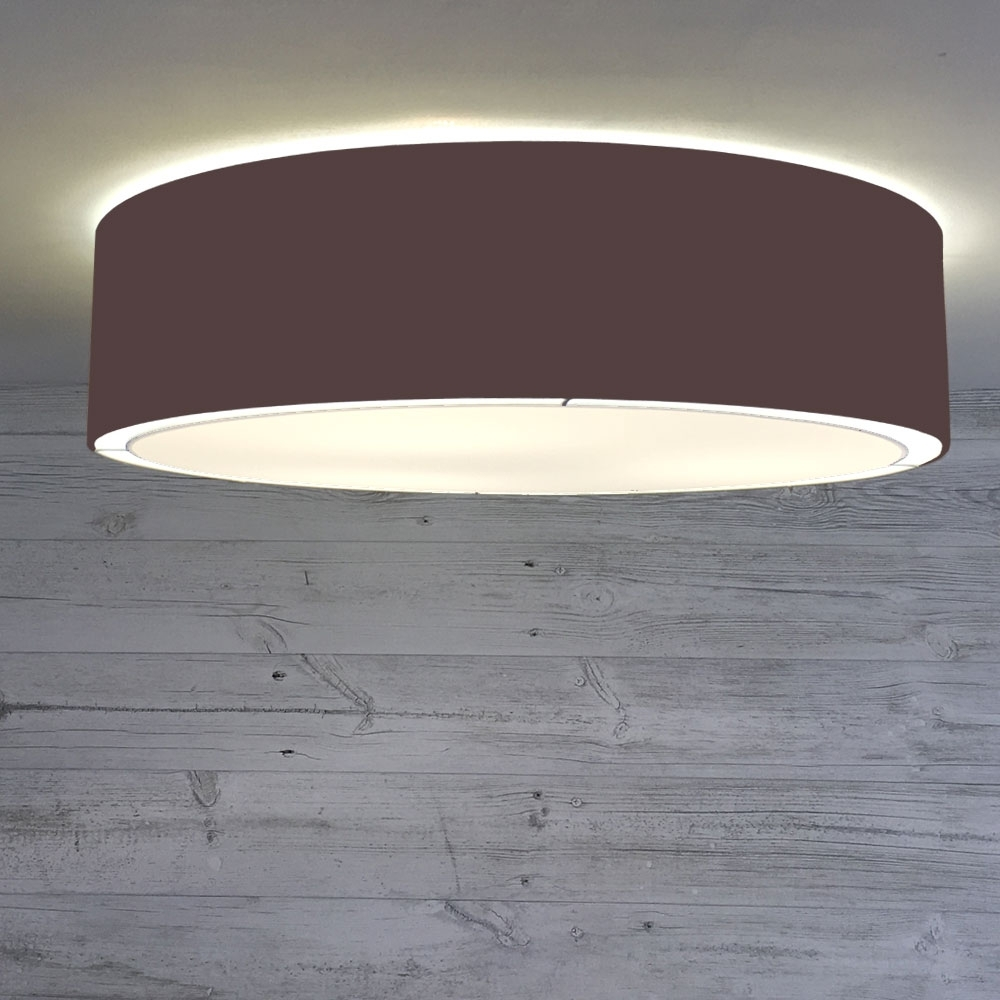 Flush Drum Ceiling Light Chocolate
