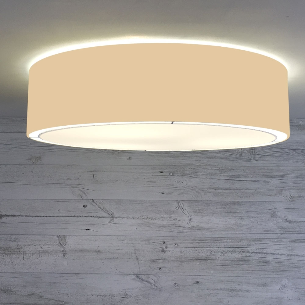 Flush Drum Ceiling Light Toast