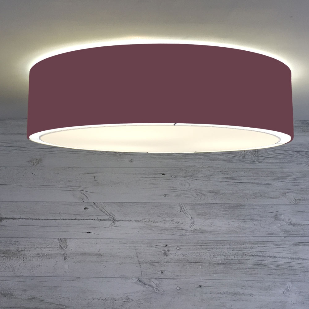 Flush Drum Shade Claret