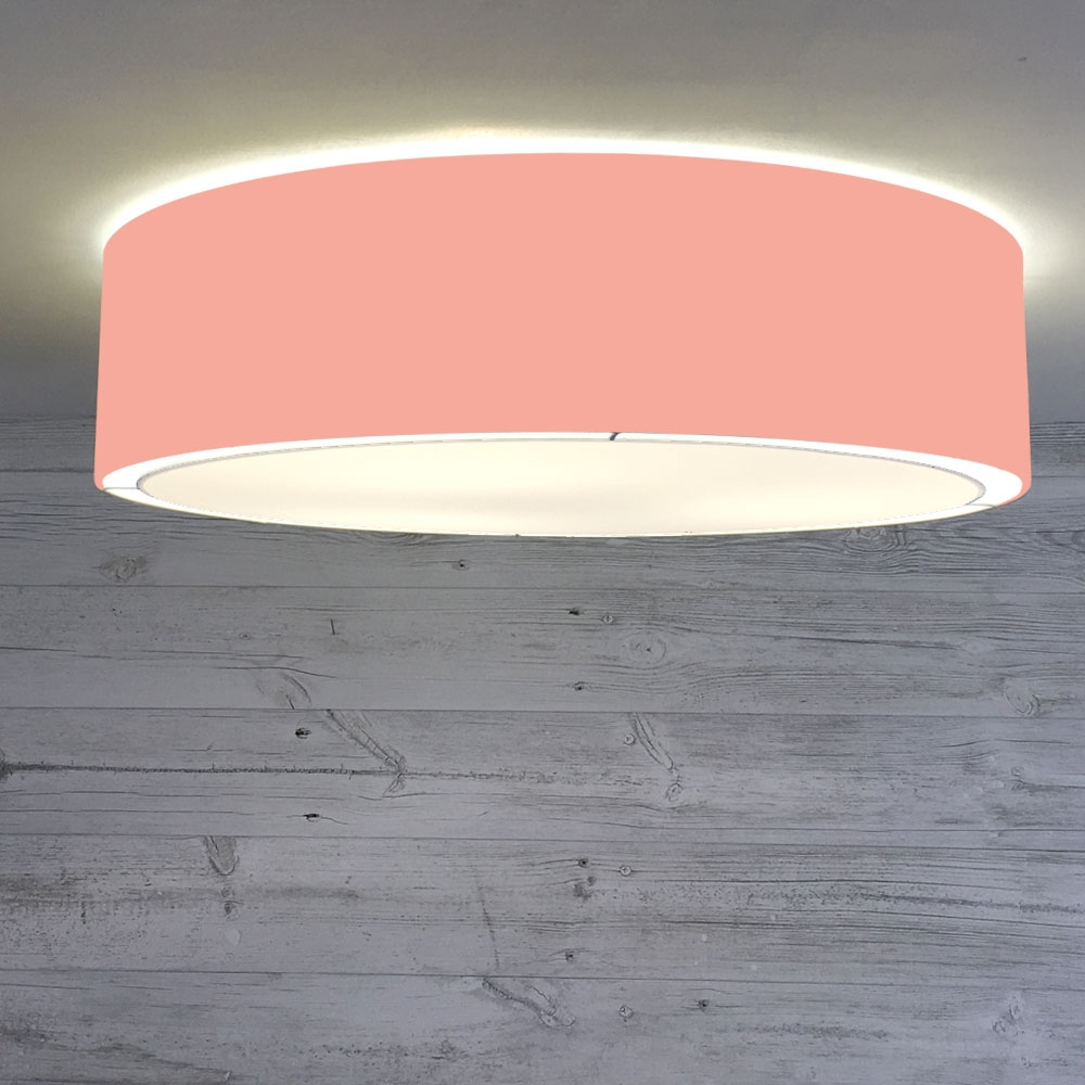 Flush Drum Shade Coral