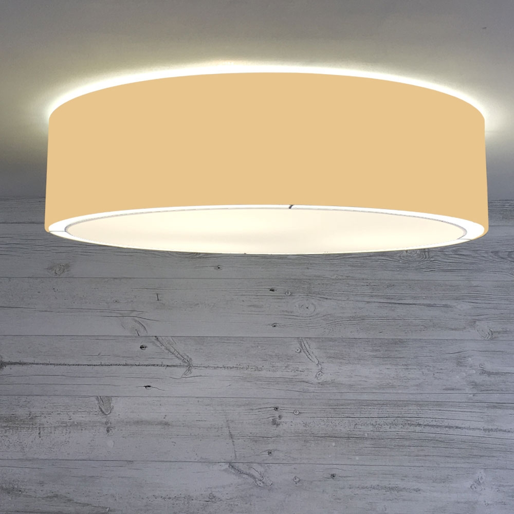 Flush Drum Shade Dijon