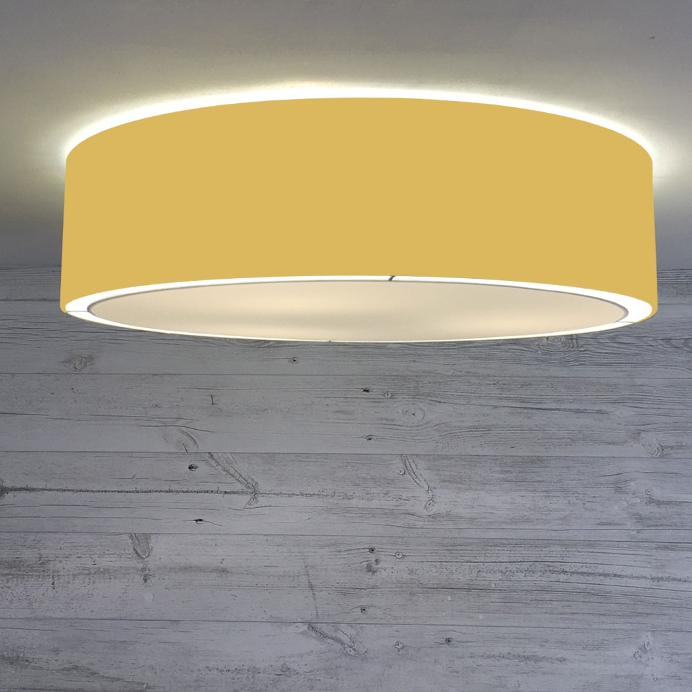 Flush Drum Shade Gold