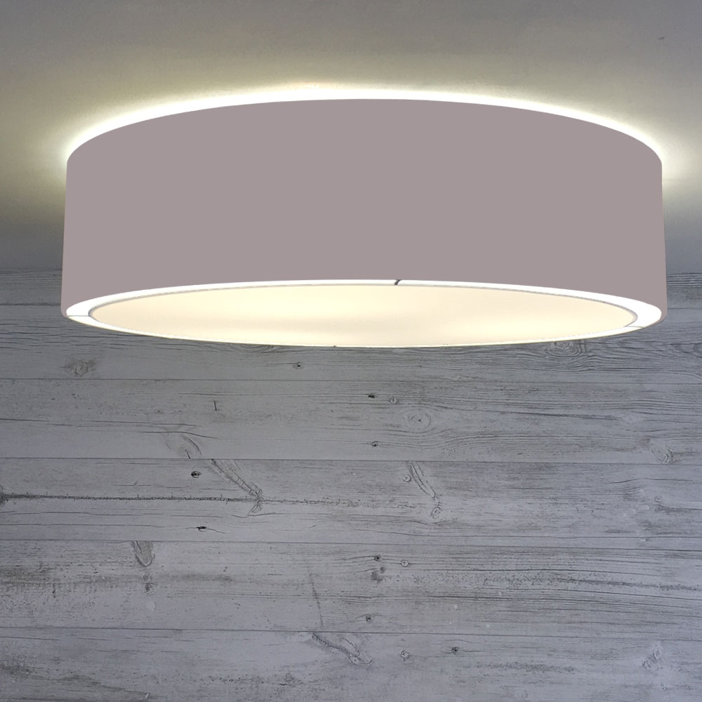 Flush Drum Shade Grey