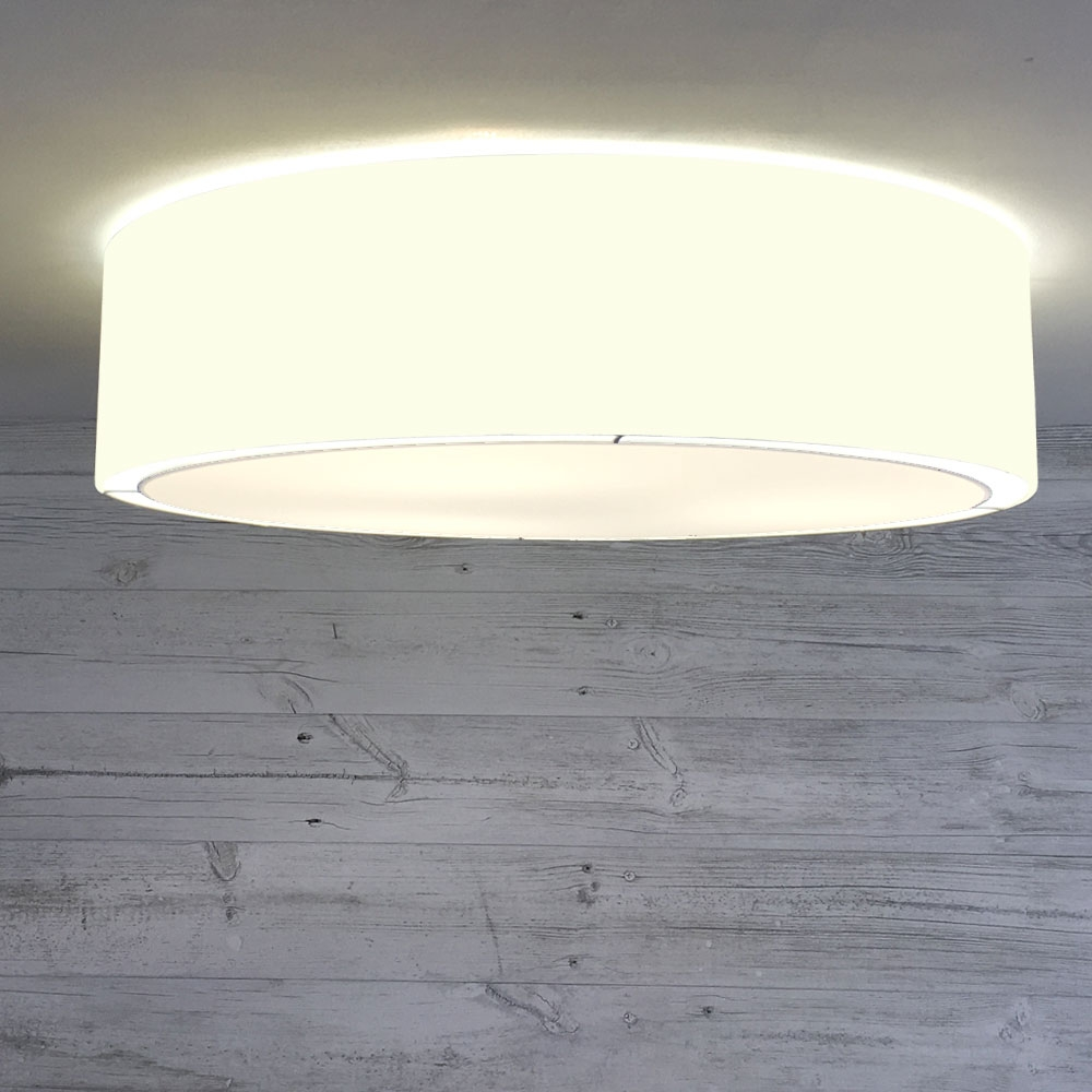 Flush Drum Shade Ivory