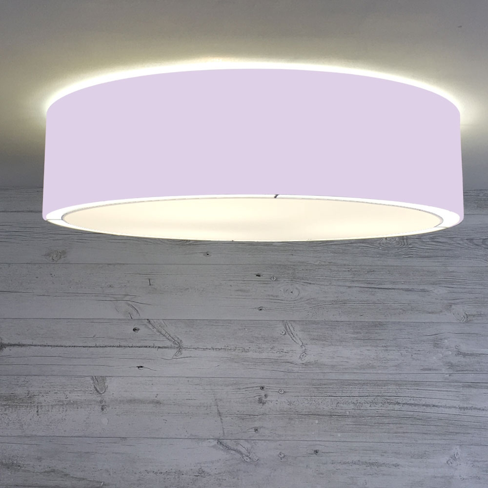 Flush Drum Shade Lilac