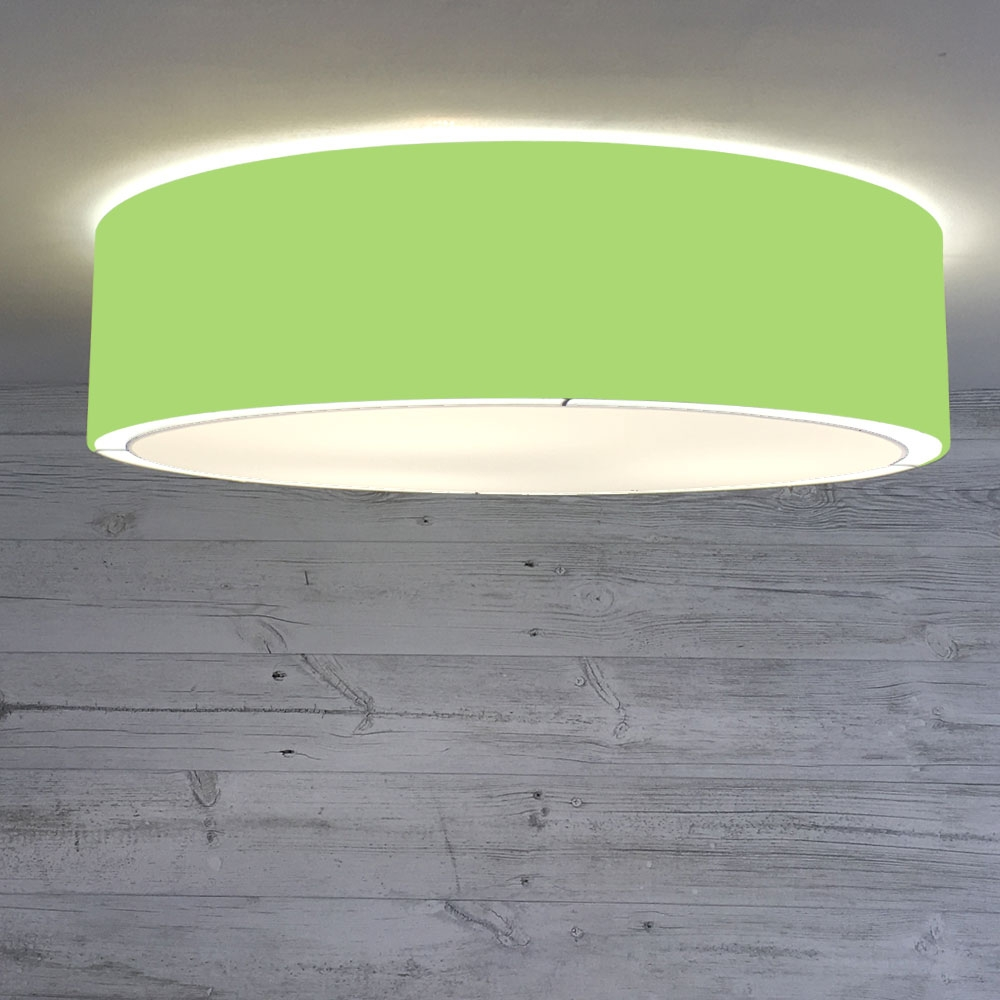 Flush Drum Shade Lime Green