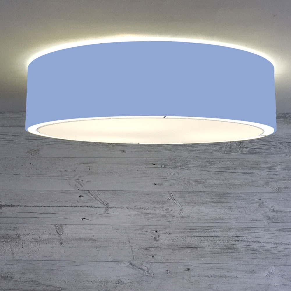 Flush Drum Shade Mid Blue