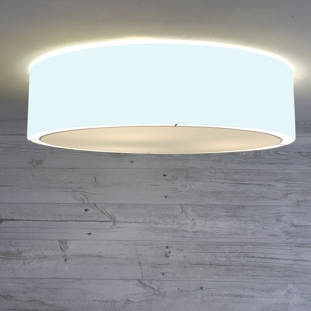 Flush Drum Shade Pale Blue