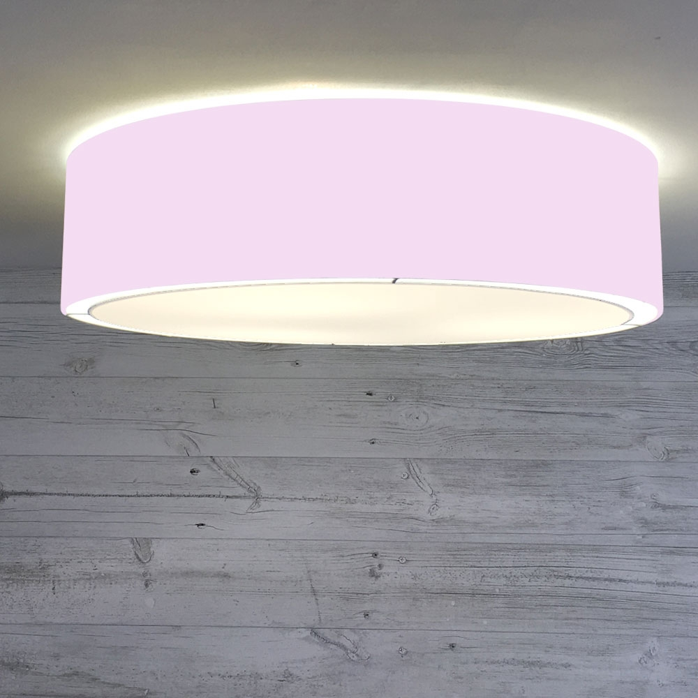 Flush Drum Shade Pale Violet