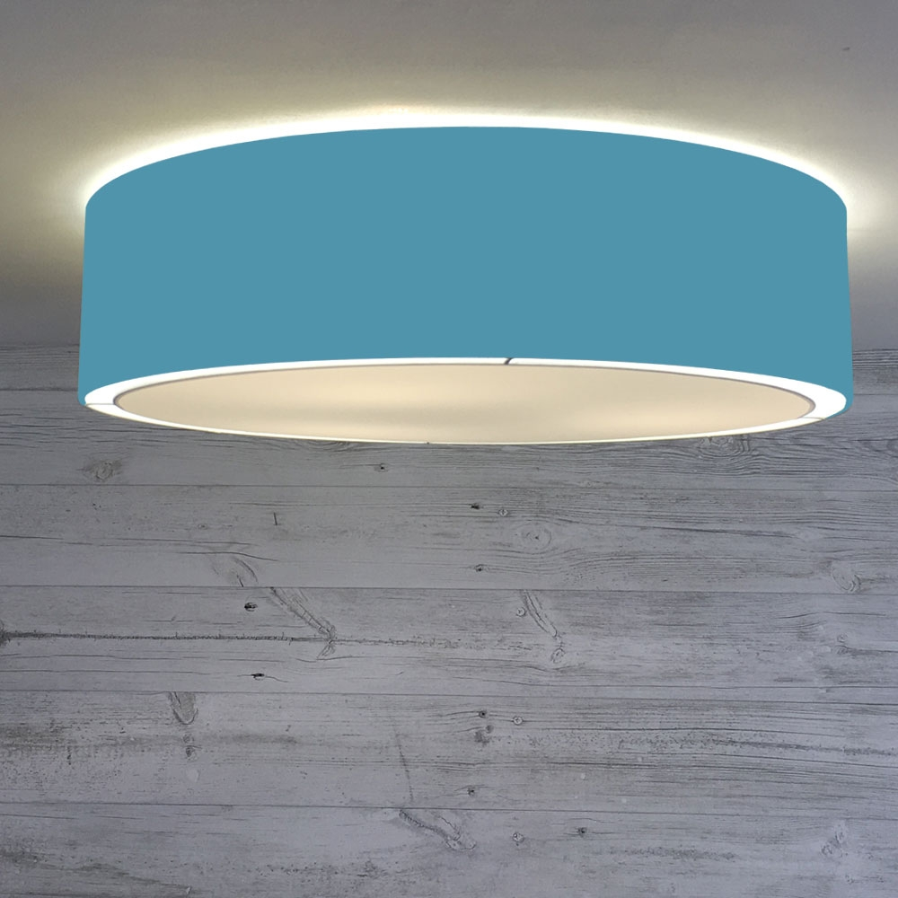 Flush Drum Shade Peacock