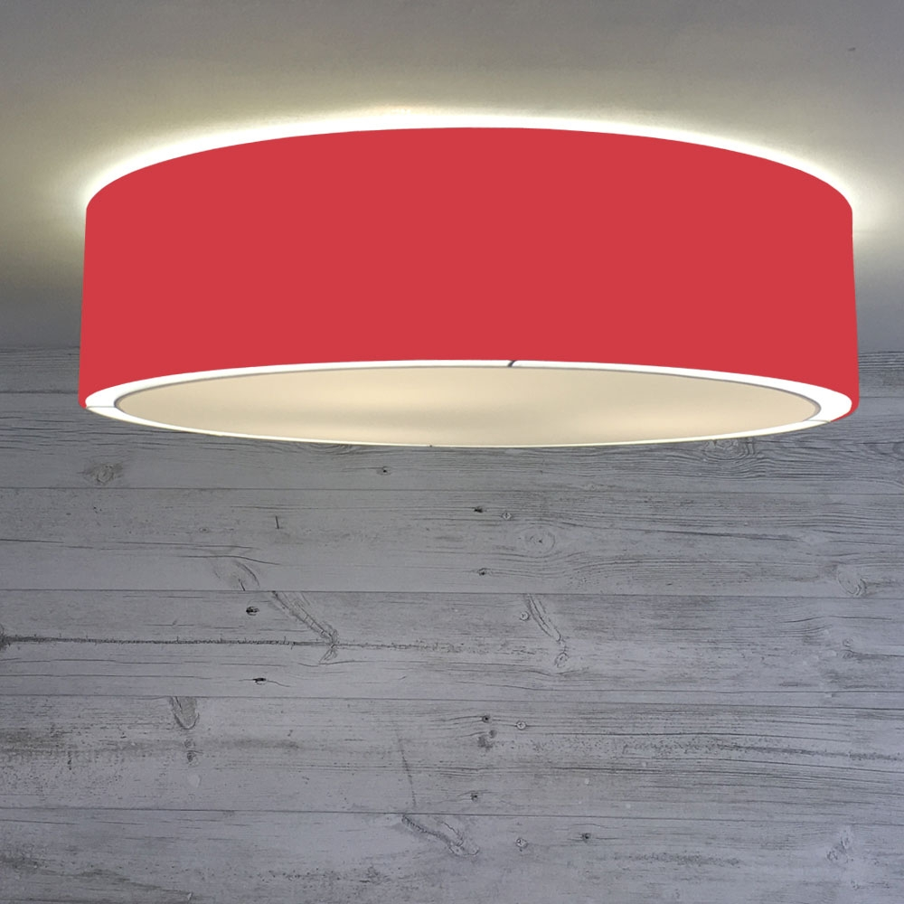 Flush Drum Shade Red