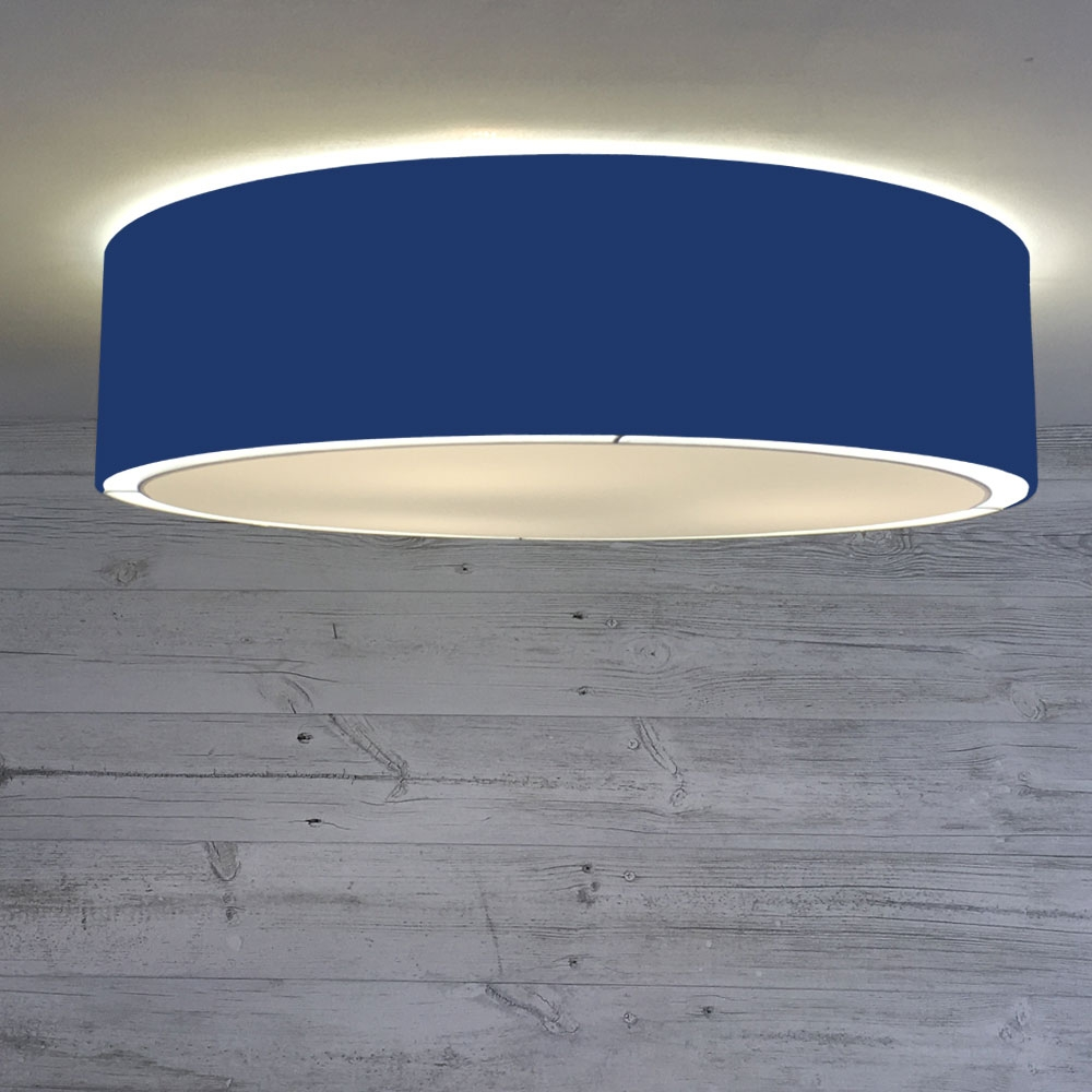 Flush Drum Shade Royal Blue Imperial Lighting