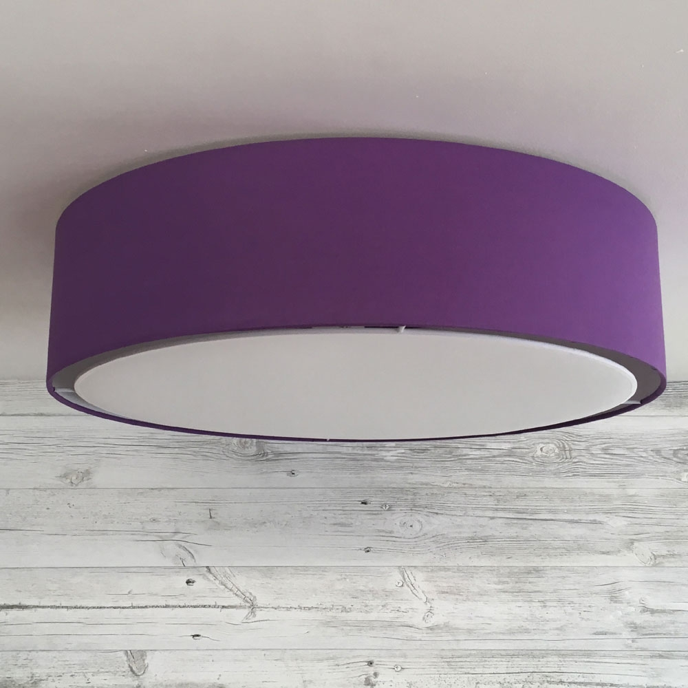 Flush Drum Shade White Imperial Lighting