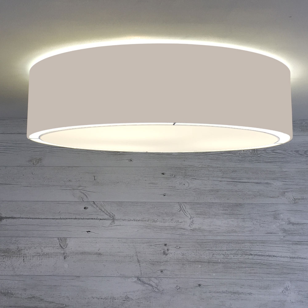 Flush Drum Shade Taupe